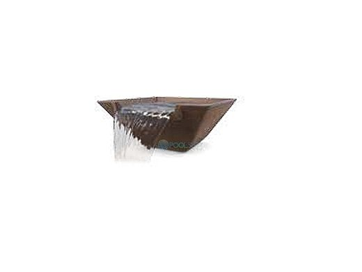 Pentair MagicBowl Water Effects Fountain Bowl without Light Niche | Square Copper | 580048