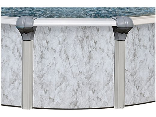 """Sierra Nevada 16' Round Above Ground Pool   Ultimate Package 52"""" Wall   163200"""