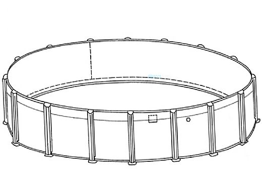 """Sierra Nevada 18' Round Above Ground Pool   Basic Package 52"""" Wall   163213"""