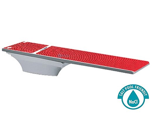 SR Smith Flyte-Deck II Stand With TrueTread Board Complete   8' Radiant White with Red Top Tread   68-207-7382R