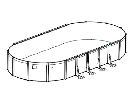 """Sierra Nevada 16' x 28' Oval Above Ground Pool   Basic Package 52"""" Wall   163330"""