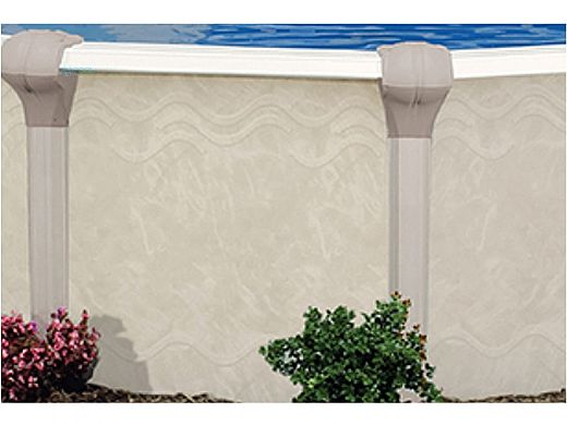 """Oxford 27' Round Above Ground Pool   Basic Package 52"""" Wall   163405"""