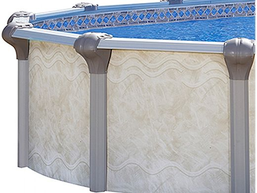 """Oxford 18' x 33' Oval Above Ground Pool   Basic Package 52"""" Wall   163414"""