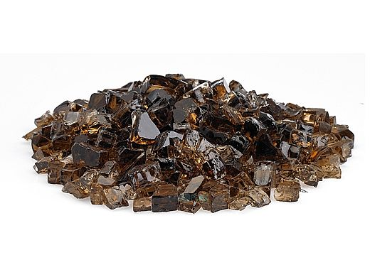 American Fireglass Half Inch Premium Collection   Copper Reflective Fire Glass   25 Pounds   AFF-COPRF12-25