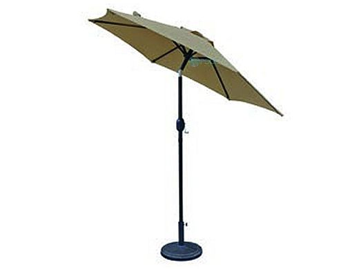 Bistro Market Umbrella   7.5-ft Hexagonal   Stone Olefin Fabric   NU5447ST