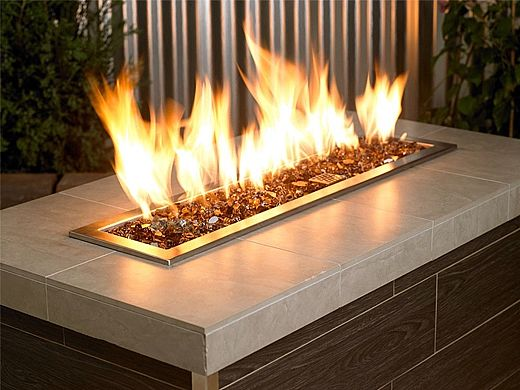 American Fireglass Half Inch Premium Collection | Copper Reflective Fire Glass | 55 Pounds | AFF-COPRF12-55