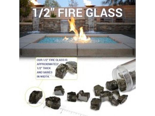 American Fireglass Half Inch Premium Collection   Azuria Reflective Fire Glass   10 Pound Jar   AFF-AZBLRF12-J