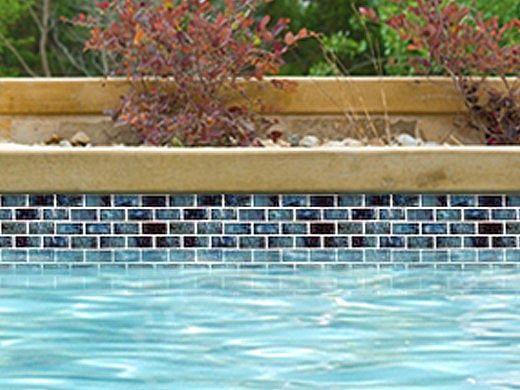National Pool Tile Meridian Series 1x2 | Cobalt | MRD-COBALT1X2