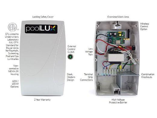 SR Smith poolLUX Power Lightning Control System | 60 Watt Transformer | Includes 3 Treo Light Kit | 3TR-PLX-PW60