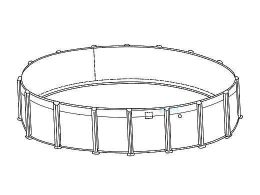 "Coronado 30' Round 54"" Sub-Assy for CaliMar® Above Ground Pools 