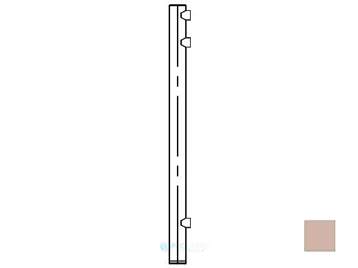 """Saftron Core Mounted End Post for 48"""" 2400 Series Fencing   Taupe   FP-2248-CEP-T"""