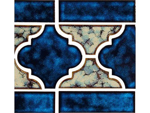 National Pool Tile Lantern Border Series | Royal Blue | LAN-ROYAL