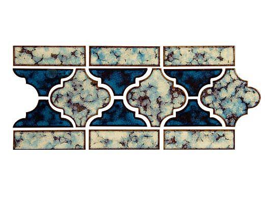 National Pool Tile Lantern Border Series | Ocean Blue | LAN-OCEAN