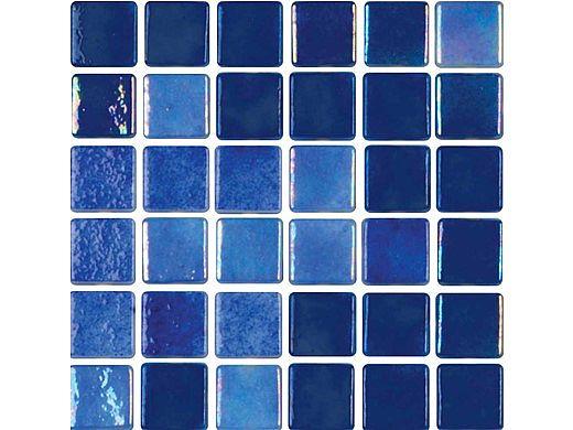 National Pool Tile Tribeca 1x1 Glass Tile | Dark Blue Glossy| TRI-DKBLUE-GL