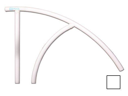 "Saftron Triton Series Return to Deck Mounted Handrail   .25"" Thickness 1.90"" OD   44""W x 36""H   White   TRTD-144-W"