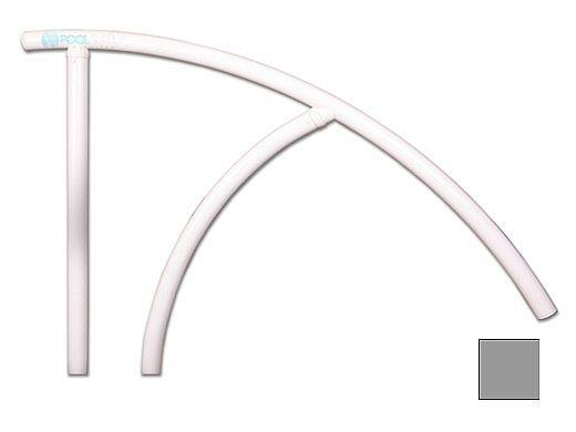 "Saftron Triton Series Return to Deck Mounted Handrail   .25"" Thickness 1.90"" OD   44""W x 36""H   Gray   TRTD-144-G"