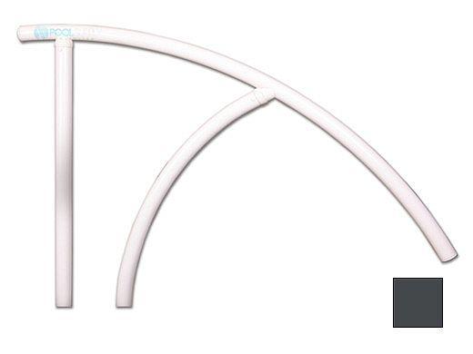 "Saftron Triton Series Return to Deck Mounted Handrail   .25"" Thickness 1.90"" OD   44""W x 36""H   Graphite Gray   TRTD-144-GG"