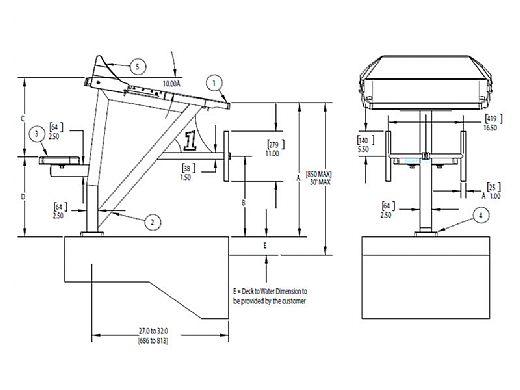 SR Smith Velocity Mid-Range Starting Platform with Sand Tread without Track Start   VELOMR-SA