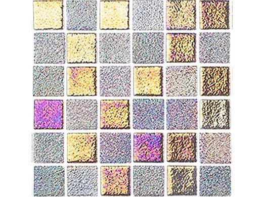National Pool Tile Opal Glass 1x1 Tile   Bronze Alloy   OPL-ALLOY1X1