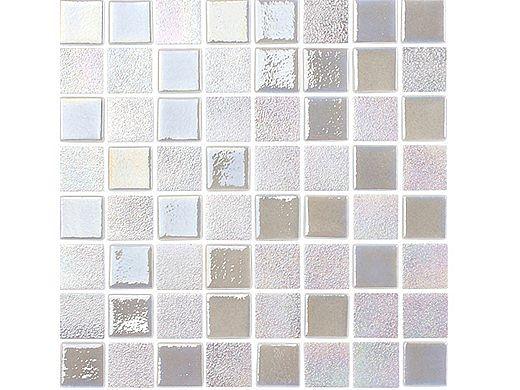National Pool Tile Opal Glass 1.5x1.5 Tile | Pearl White | OPL-PEARL