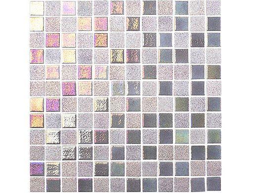 National Pool Tile Opal Glass 1x1 Tile | Steel Grey | OPL-GREY1X1