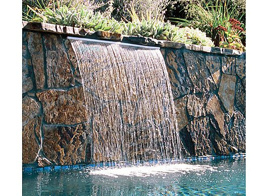 "Jandy Sheer Descent Series Rain 4' Waterfall with 6"" Descent Lip Clear | 1204CSR"