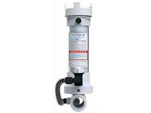 "AquaStar ChemStar Clear In-line Automatic Chlorinator   2"" Union 2"" Sockets x 2"" Spigot   CH100CLR2"