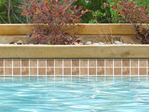 National Pool Tile Tundra 2x2 Series | Oro | TUN-ORO2X2