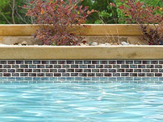 National Pool Tile Meridian Series 1x2 | Olive | MRD-OLIVE1X2