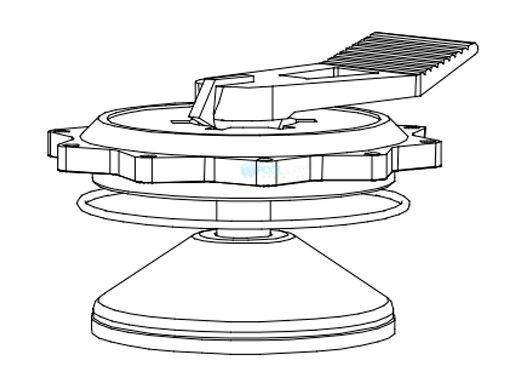 "Aqua Ultraviolet 2"" Valve Key Handle Assembly | A50062"