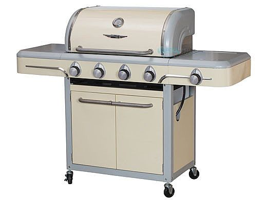 Bullet Bel Air 4 Burner Vintage Grill Cart by Bull Outdoor Products | Cream | 79003