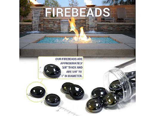 American Fireglass Half Inch Fire Beads Collection | Caramel Luster Fire Beads | 10 Pound Jar | FB-CARLST-J
