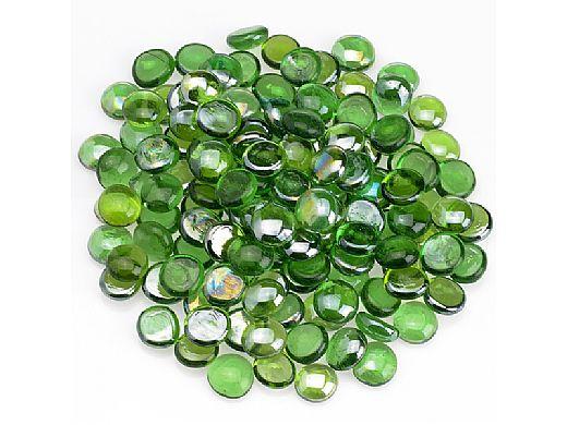 American Fireglass Half Inch Fire Beads Collection | Emerald Green Luster Fire Beads | 10 Pound Jar | FB-EMELST-J