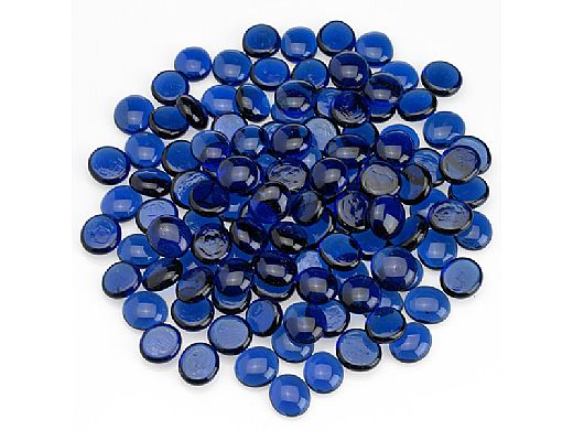 American Fireglass Half Inch Fire Beads Collection | Royal Blue Fire Beads | 10 Pound Jar | FB-ROY-J