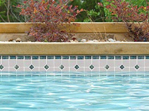 National Pool Tile Grace Series Pool Tile | Marine | GRACE-CHARM