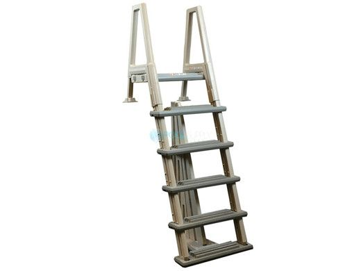 Confer Plastics Heavy Duty In-Pool Ladder with Barrier | Pool to Deck | 6000X