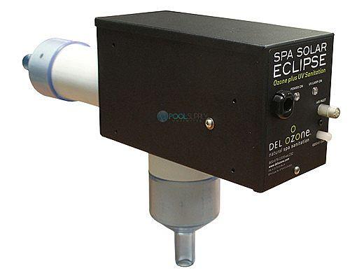 DEL AOP Spa Solar Eclipse Ozone + UV Sanitation | 1,000 Gallons | 120V/240V | Flag Connector Cord | SES-U-06