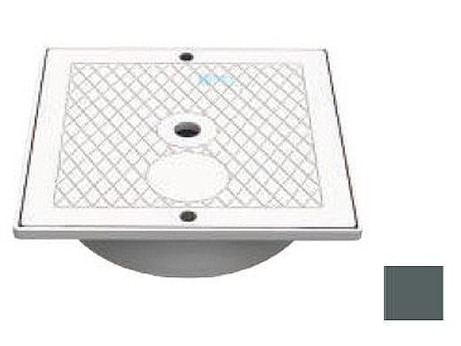 AquaStar Square Skimmer Lid and Collar   Dark Gray   SK64105