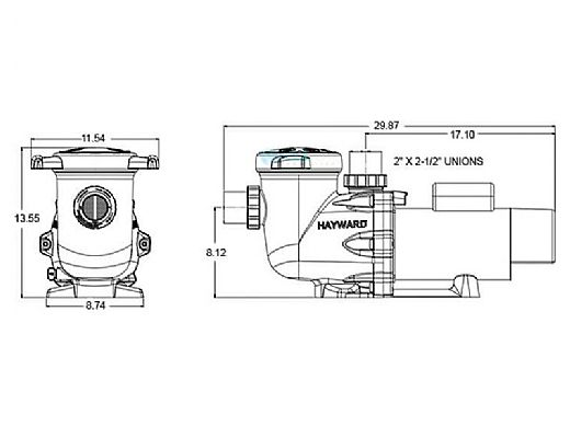 hayward hcp 2000 series tristar commercial pool pump  5hp