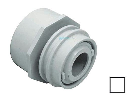 """AquaStar Choice Flush-Mount Return Fitting   with Water Stop Eyeball and Nut Aim Flow   Fits Over 2"""" Pipe with 1/2"""" Orifice   Clear   3500C"""