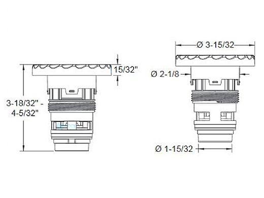 AquaStar AquaThunder Rotational Jet Barrel | Double | Light Gray | ATGB403