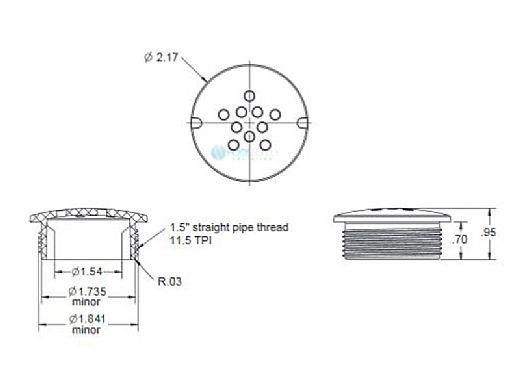 """AquaStar Pool Products Bubbler Plate 1.5""""   Tan   BP108"""