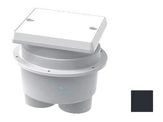 AquaStar Junction Box with Square Lid   Black   JBS102