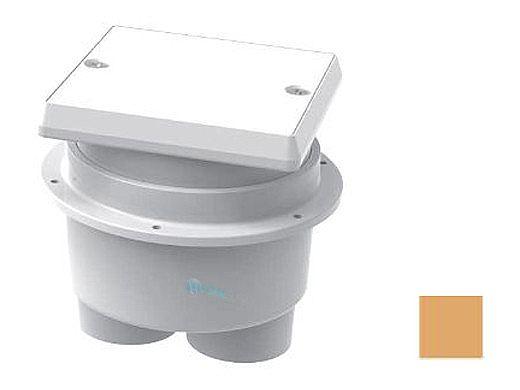 AquaStar Junction Box with Square Lid | Tan | JBS108