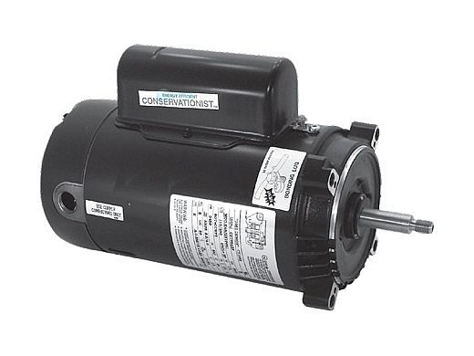 A.O. Smith Threaded Shaft Pool Motor 1HP | 230V 56J Frame | Two Speed Full-Rated | STS1102RV1