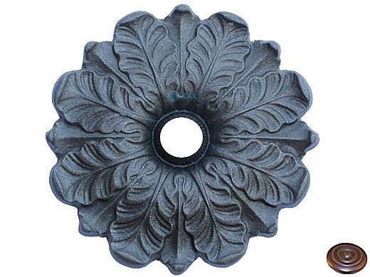"""Water Scuppers and Bowls Pessac Fountain Emitter   Weathered Copper   3/4"""" Connection   WSBPE7031"""