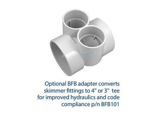 "AquaStar Flow Star Standard Skimmer with Flush Face 4"" Extension, Float Assembly, Basket, Lid and Collar | White | SKR14101"