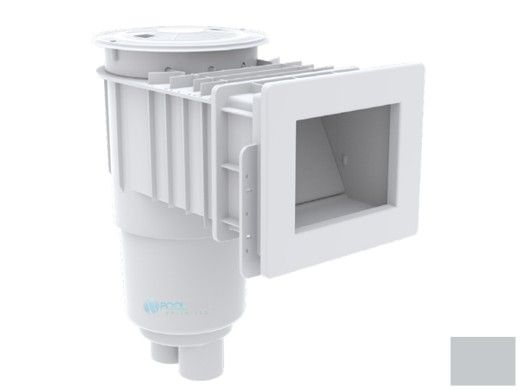 "AquaStar Flow Star Standard Skimmer with Narrow 9"" Deep Throat, Float Assembly, Basket, Lid and Adjustable Collar for Fiberglass   Light Gray   SKRFFL3N103"