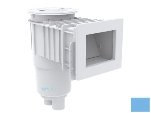 "AquaStar Flow Star Standard Skimmer with Narrow 9"" Deep Throat, Float Assembly, Basket, Lid and Adjustable Collar for Fiberglass | Blue | SKRFFL3N104"