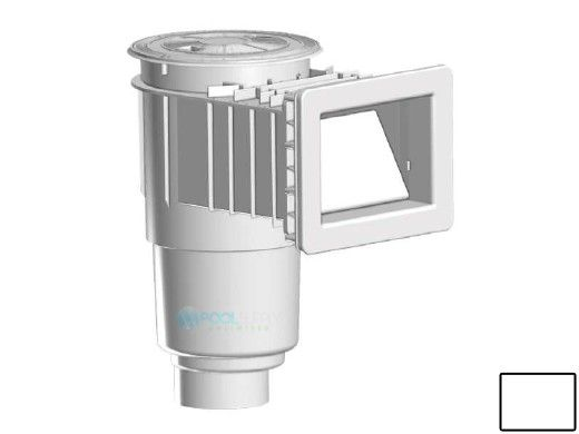 "AquaStar Flow Star Skimmer with 5"" Deep Throat, Float Assembly, Basket, Lid and Adjustable Collar for Fiberglass with 4"" Socket Sump | White | SKRFL12101D"